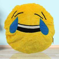 Laughter Overload Smiley Cushion
