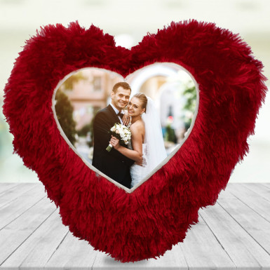 Buy Heart Shape Personalised Cushion