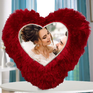 Buy Personalised Heart Shape Cushion
