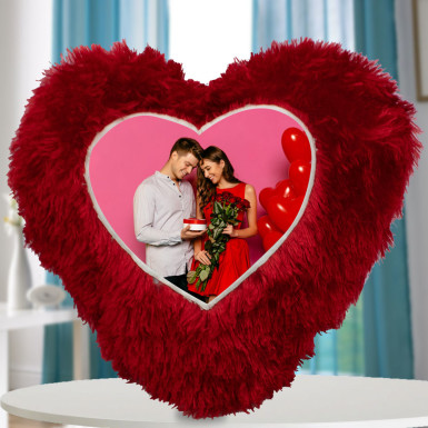 Buy Heart Shape Photo Cushion