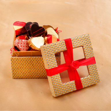 Buy Jewellery Box with Valentine Chocolate Truffles