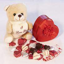 Cute Teddy with Chocolates