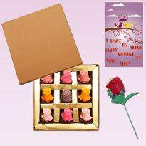 Colorful Rose Chocolates