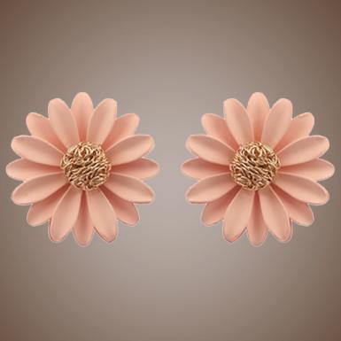 Buy Pink Daisy Earrings