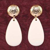 Creme Gold Earrings