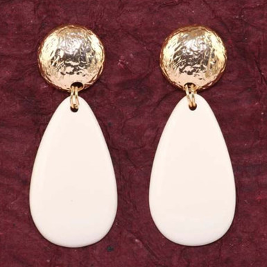 Buy Creme Gold Earrings
