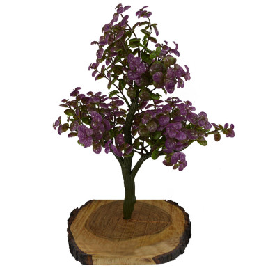 Buy Artificial Bonsai Green Hackle Berry Plant
