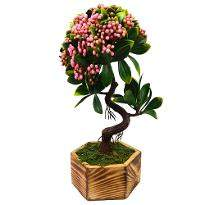 Artificial Beads Bonsai with Hexa Pot