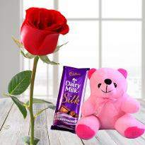 1 Rose 1 Chocolate 1 Teddy