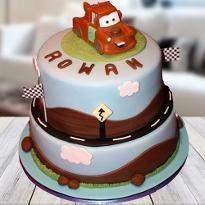 Cars Mater fondant cake