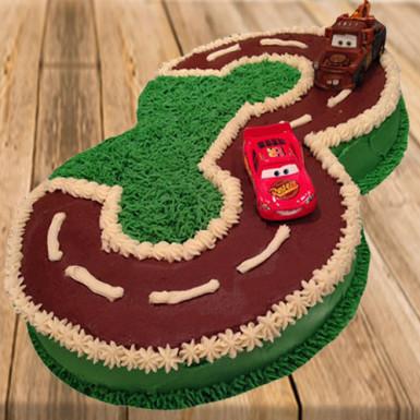 Buy Number Racing Track Shape Cake