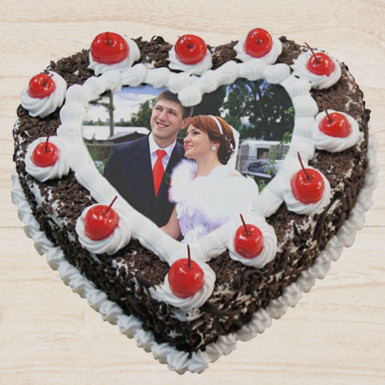 Buy Heart Shape Photo Cake