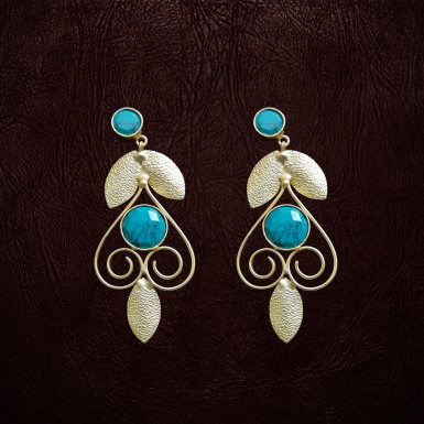 Buy Sky Blue Earrings