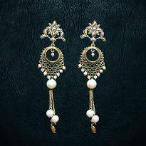 White Moti Earrings