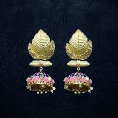 Buy Leaf style Jhumkas