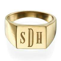 Gold Plated Personalised Ring