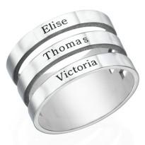 Platinum Plated Personalised Ring