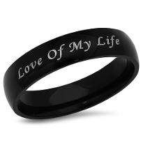 Love of My Life Engraved Ring