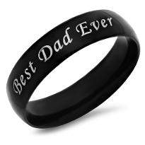 Personalised Best Dad Ring