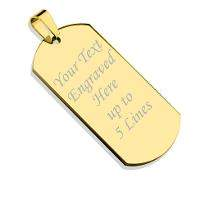 Personalised Gold Plated Pendant