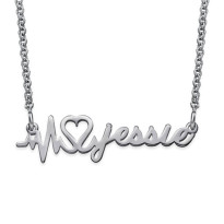 Heartbeat Platinum Plated Pendant