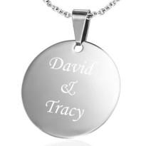 Couple Name Platinum Plated Pendant