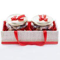 Set of 2 Jar Basket Chocolates