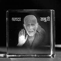 Shirdi Sai Baba Crystal Item