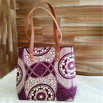Purple Gradient Print Handbag