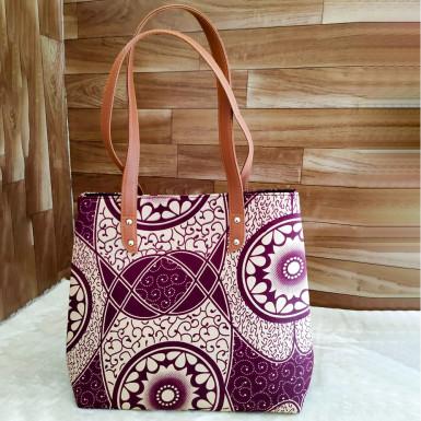 Buy Purple Gradient Print Handbag