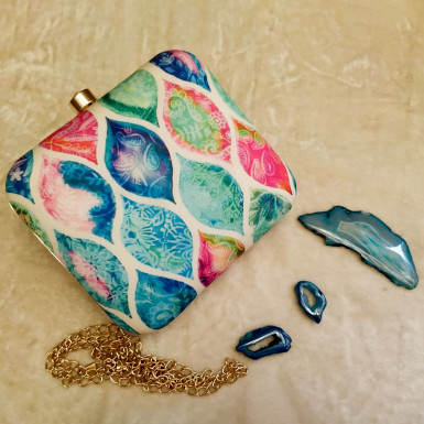 Buy Colorful Pattern Clutch