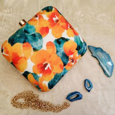 Buy Vivid Floral Clutch