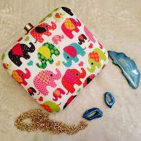 Baby Elephant Pattern Clutch