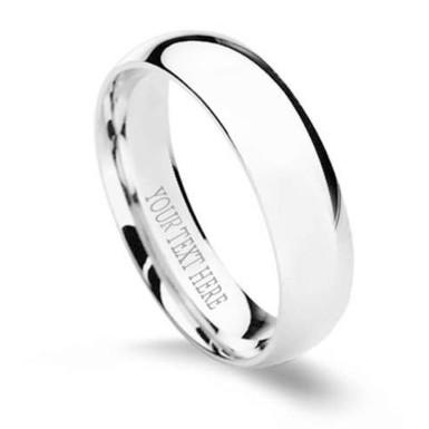 Buy Personalised Silver Ring