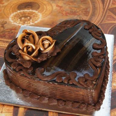 Buy Heart Shape Choco Truffle Cake