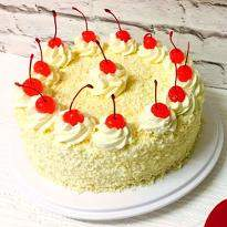 Creamy White Forest Cake