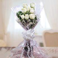 Sweet Memories White Roses Bunch