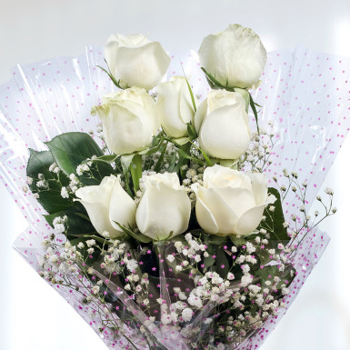 Buy Sweet Memories White Roses Bunch