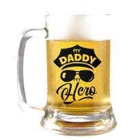My Hero Dad Beer Mug