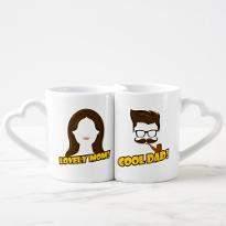 Lovely Mom Cool Dad Mug