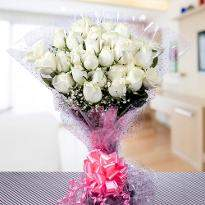 Promise of Love  Bunch of White Roses