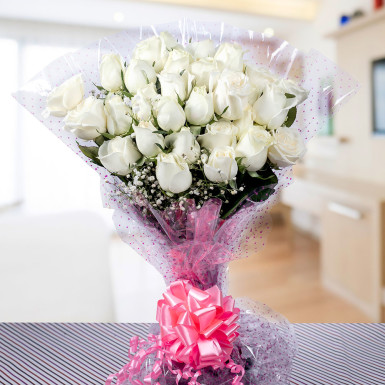 Buy Promise of Love  Bunch of White Roses