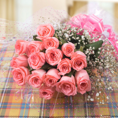 Buy Love Forever  A bunch of Pink Roses