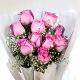 Buy Pink roses exclusive bunch