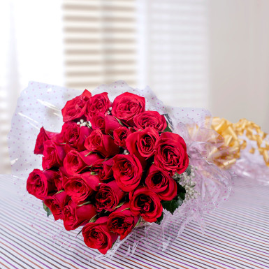 Buy Passion Around Red Roses Bunch