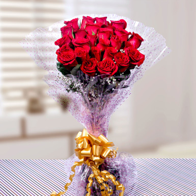 Buy Colorful Celebration Red Roses Bunch