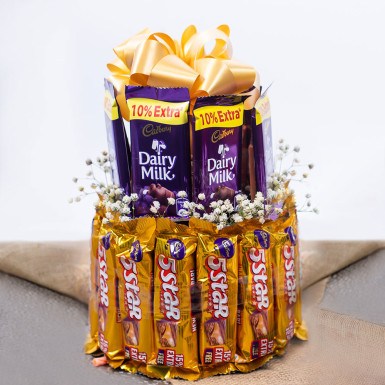 Buy Two Layer Assorted Chocolate Arrangement