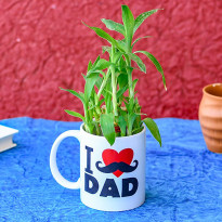 Lucky Bamboo in I Love Dad Mug