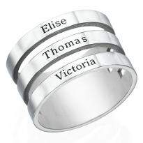Silver Plated Personalised Ring