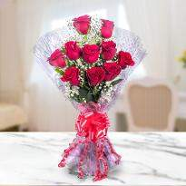 Lovingly Yours A bunch of 10 Red Roses
